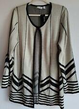 Kim Rodgers Gray & Black Open One Hook Open Sweater sz XL New
