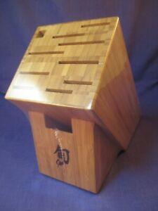 Shun 11 Slot Bamboo Knife Storage Block #3
