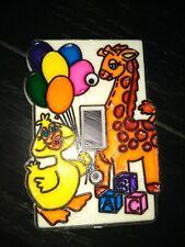 New listing Vintage Children's Light Switch Cover Plate Giraffe Duck