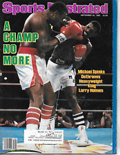 SPORTS ILLUSTRATED - LARRY HOLMES  FROM SEPTEMBER 30, 1985