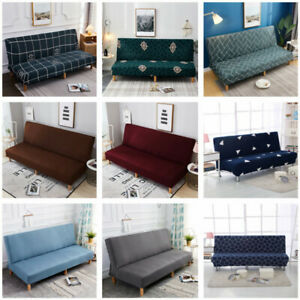 Sofa Bed Stretch Seater Cover Lounge Protector Long Couch Slipcover Armless