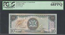Trinidad and Tobago 10 Dollars 2006 P48 Uncirculated Graded 68