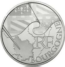 """10 euros régions """"drapeau"""" (argent)  Bourgogne 2010"""