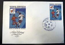 MADAGASCAR  672   PREMIER JOUR FDC     FOOTBALL ESPANA 82      30F     1982