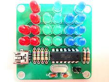 24-Hour RGB Binary Clock with Seconds Kit DIY Atmel AVR Microcontroller ATTINY44