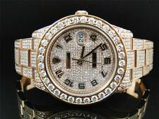 28 Ct New Mens Full Diamond Rose Gold Rolex Datejust Date Just 2 II 45MM Watch