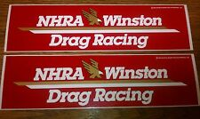 1992 NHRA WINSTON DRAG RACING Decals - TWO for one LOW price!!  11 x 3 MINT NOS