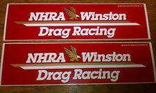 33% PRICE SLASH - 25 y/o MINT 1992 NHRA WINSTON DRAG RACING Decals!!  11 x 3