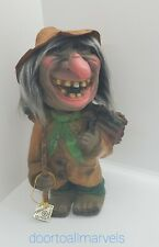 Vintage Heico Bobblehead Witch West Germany Marked Tag Halloween Large