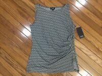 NWT Jones New York Women's Sleeveless Top Blouse Side Zipper Sz L  MSRP $49