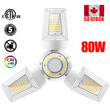 80W E26 Foldable LED Deformable Ceiling Garage Light Bulb Shop Workshop Lamp CA