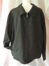 Men's Boston Harbour Wool Lined Winter Coat Size Large Full Zip