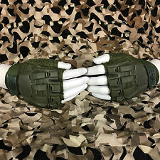 New Valken V-Tac Half Finger Paintball Airsoft Gloves - Olive - X-Large/Xx-Large