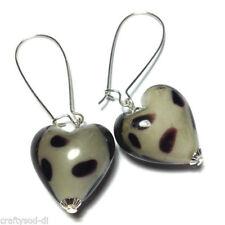 Hook Heart Silver Plated Costume Earrings