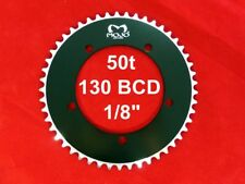 """MOJO Fixed Gear Chainring 50T - 130 BCD Track Fixie single speed 1/8"""" - BLACK"""