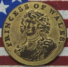 New listing Kappyscoins 1795 Princess Of Wales C0Nder Half Penny Token Gilted