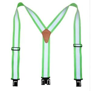 New Perry Suspenders Elastic Hook End Reflective Safety Suspenders