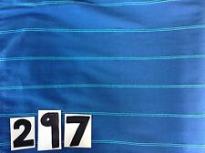 Royal blue/light blue striped fabric (firm 2-way stretch) active/dance wear 297