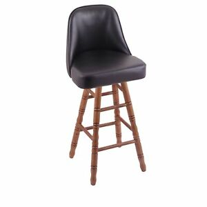 Holland Bar Stool Co. Grizzly Counter Stool with Turned Oak Legs, Dark Cherry...