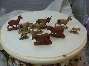 Marx lot of 9 sheep/goats/lambs