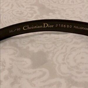 Christian Dior brown leather belt 36/90