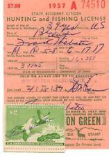 1957 RW24 Washington Hunting Fishing License Federal Duck Stamp free shipping