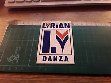 Vintage Adhesive Sticker lyrian dance