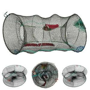 Crab Trap Net For Prawn Crayfish Shrimp Lobster Eel Live Bait Fishing Pot Basket