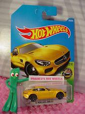 '15 MERCEDES-AMG GT #256✰yellow; gray y5✰HW EXOTICS✰2017 i Hot Wheels case L/M