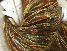 Trendsetter Yarn Dune Mohair/Acry/Metal Two Skeins Color 68 Golds/Reds Discontin