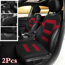 2Pcs Car Front Seat Cover Cushions Styling Accessories T-shirt Design Black/Red