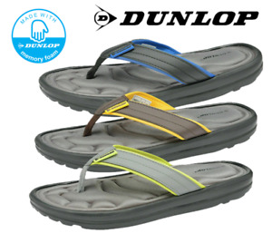 Dunlop Men's Summer Memory Foam Thong Sandal Flip Flops Walking Toe Post Shoes