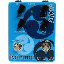 Budda Karma Chorus Vibrato Speed Level Control True Bypass Guitar Effects Pedal
