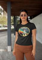 NASA Vintage Logo Womens T Shirt Space Astronaut Retro Style Classic Tee Black