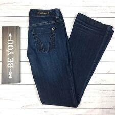 Serfontaine Long Blue Jeans Womens 25 Minx Designer Denim Boot Leg Dark Wash