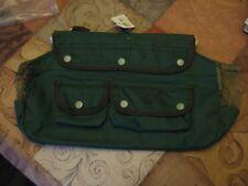 "Smi Canvas Creel 4 Pocket 13"" x 8"" Freshwater Fly Fishing Tackle Bag & Strap"