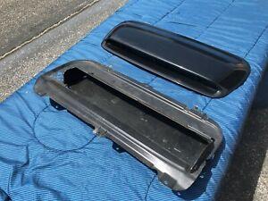 04-08 SUBARU FORESTER XT HOOD SCOOP BLACK 90821FE013 W/ INTAKE BAFFLE 05 06 07