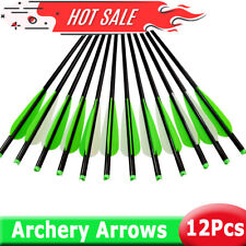 "12pcs Crossbow Aluminum Arrows Shaft Bolts 16"" 18"" 20"" 22"" For Hunting Shooting"