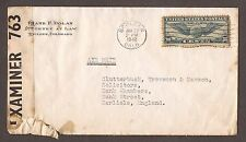 1942 UNITED STATES TO ENGLAND AIRMAIL LETTER
