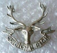 Seaforth Highlanders Cap Badge 3 Lugs White Metal ANTIQUE Genuine