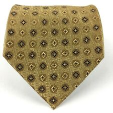 Valerio Garati Men's 100% Silk Tie Geometric Gold Iridescent 57 3/8 L Hand Made