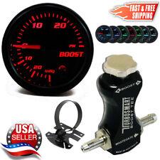 TurboSmart Boost Tee Boost Controller 0101-1002 Black +52mm Psi Boost Gauge +Pod