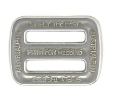 "AustriAlpin 25mm / 1"" - 2 slot buckle / Triglide - Chrome / Polished ( FC06A )"