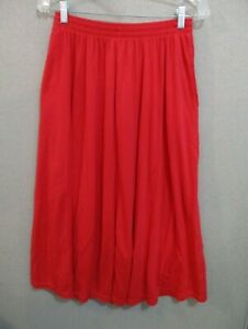 Weekenders Skirt Size Medium Bright Red Long Knit Casual