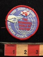 Vintage 1965 Allegheny Council Wonderful World Of Scouting Boy Scout Patch S76G