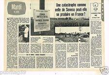 Coupure de presse Clipping 1977 (2 pages) Catastrophe Seveso possible en France?