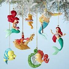 Disney Storybook Ornaments NEW Little Mermaid Ariel Sebastian Flounder Triton ++