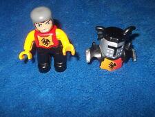 Lego Duplo Ritterburg Ritter Rüstung Silber Schwarz 4785 4777 4779