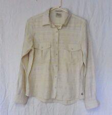 Maison Scotch La Femme Salon Marie Button Front Ivory Linen Dress Shirt Sz 1 EUC