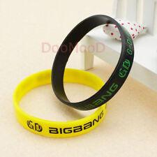 Kpop Bigbang G-dragon/GD Wristband Silicone Bracelet Jelly Wrist Band 2pcs